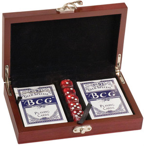Rosewood Card and Dice Set