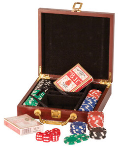 Rosewood Poker Set