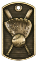 Baseball 3-D Dog Tag