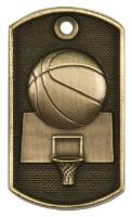 Basketball 3-D Dog Tag