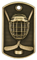 Hockey 3-D Dog Tag