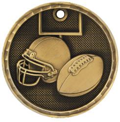 Football 3-D Medal