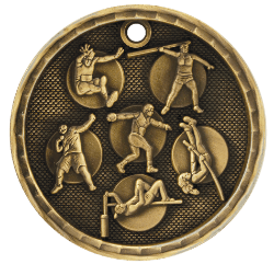 Track and Field 3-D Medal