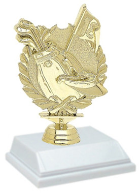 Golf Wreath 6 Inch Trophy
