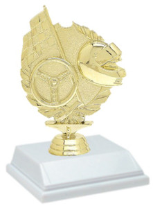 Racing Wreath 6 Inch Trophy