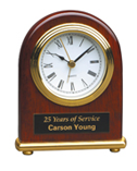 Arch Rosewood Piano Finish Desk Clock
