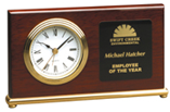 Horizontal Rosewood Piano Finish Desk Clock