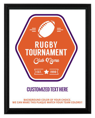 Rugby Tournament Plaque