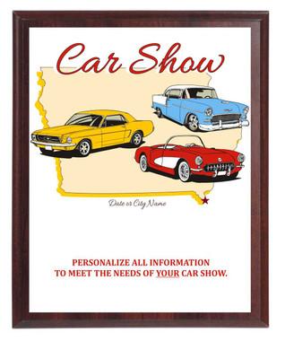 Car Show State Plaque