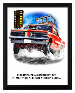 Car Show Drag Race Plaque