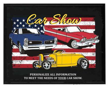 American Car Show Plaque