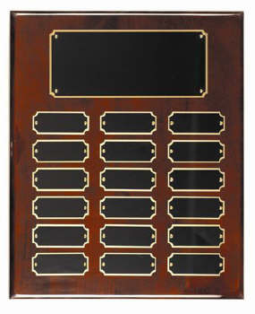 Rosewood piano finish 10x13 plaque 18 1 x 2 1/2 plates