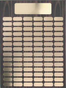 Walnut finish 18x24 plaque 102 1 x 2 1/2 plates