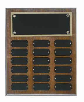 Genuine walnut 10x13 plaque 18 1x 2 1/2 plates