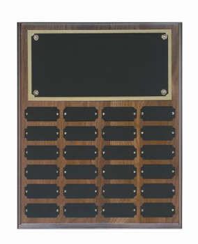 Genuine walnut 12x15 plaque 24 1 x 2 1/2 plates