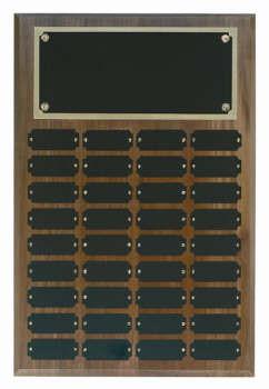Genuine walnut 12x18 plaque 36 1 x 2 1/2 plates