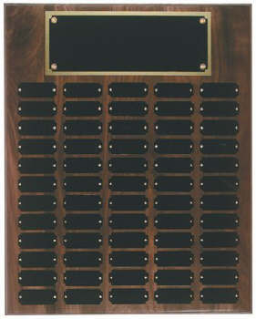 Genuine walnut 16x20 plaque 60 1 x 2 1/2 plates