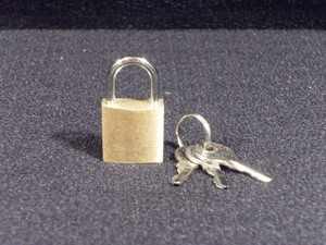 Brass Pad Lock with Keys