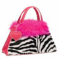 Zebra Purse with Heart Charm