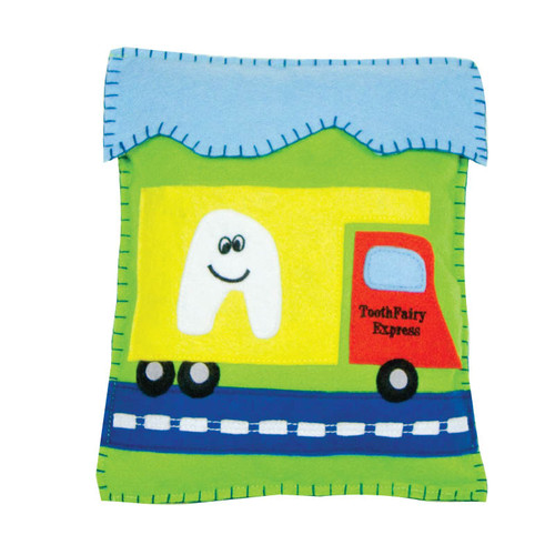 """Tooth Fairy Express Tooth Fairy Pillow  8"""" x 10"""" !WARNING: CHOKING HAZARD – Small parts. Not for children under 3 years."""