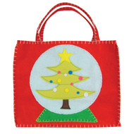 Christmas Tree Snow Globe Gift Bag