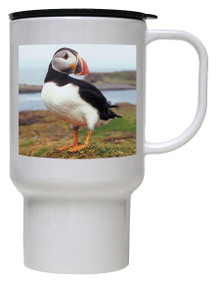 Atlantic Puffin Polymer Plastic Travel Mug