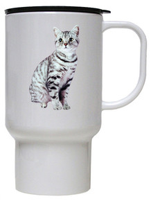 American Shorthair Cat Polymer Plastic Travel Mug