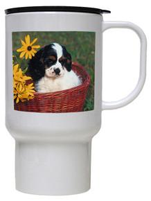Cavalier King Charles Polymer Plastic Travel Mug
