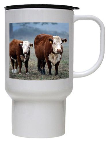 Cow Polymer Plastic Travel Mug