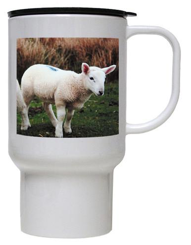 Lamb Polymer Plastic Travel Mug