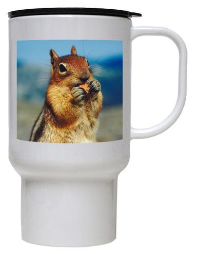 Chipmunk Polymer Plastic Travel Mug
