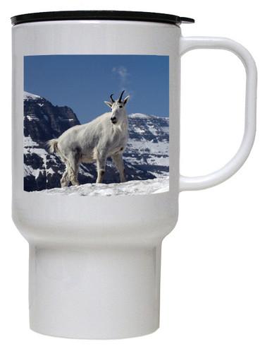 Mountain Goat Polymer Plastic Travel Mug