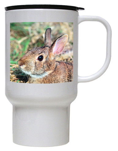 Rabbit Polymer Plastic Travel Mug