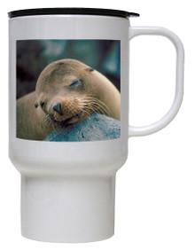 Sea Lion Polymer Plastic Travel Mug