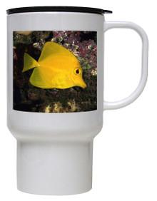 Yellow Tang Polymer Plastic Travel Mug