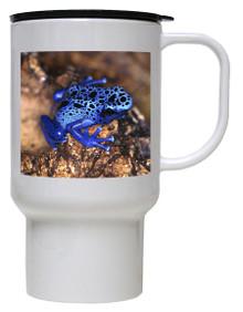 Blue Frog Polymer Plastic Travel Mug