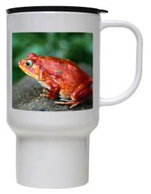 Tomato Frog Polymer Plastic Travel Mug