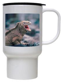 Iguana Polymer Plastic Travel Mug