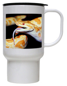 Python Snake Polymer Plastic Travel Mug