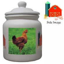 Chicken Ceramic Color Cookie Jar