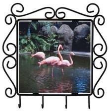 Flamingo Metal Key Holder