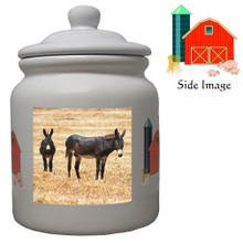 Donkey Ceramic Color Cookie Jar