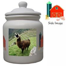 Llama Ceramic Color Cookie Jar