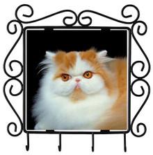 Persian Cat Metal Key Holder
