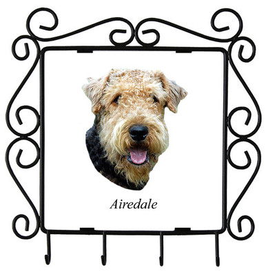 Airedale Metal Key Holder