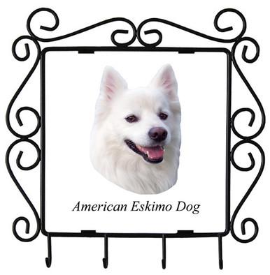 American Eskimo Dog Metal Key Holder