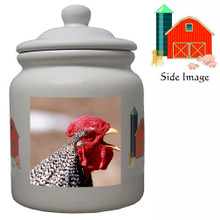 Rooster Ceramic Color Cookie Jar
