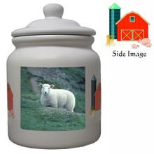 Sheep Ceramic Color Cookie Jar