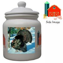 Turkey Ceramic Color Cookie Jar