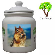 Chipmunk Ceramic Color Cookie Jar